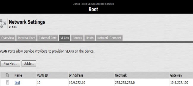How to assign the VPN IP pool from the DHCP server to the VLANs that are assigned to SSL VPN-1
