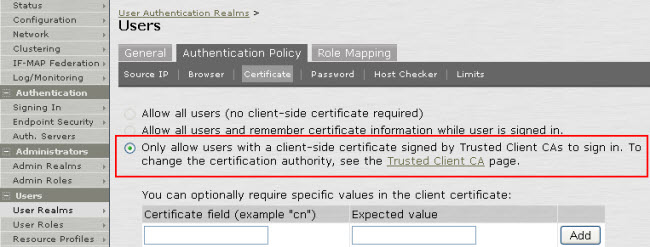 Certificate check, restriction, and authentication on mobile devices-1