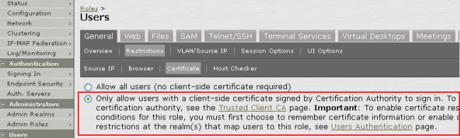 Certificate check, restriction, and authentication on mobile devices-2