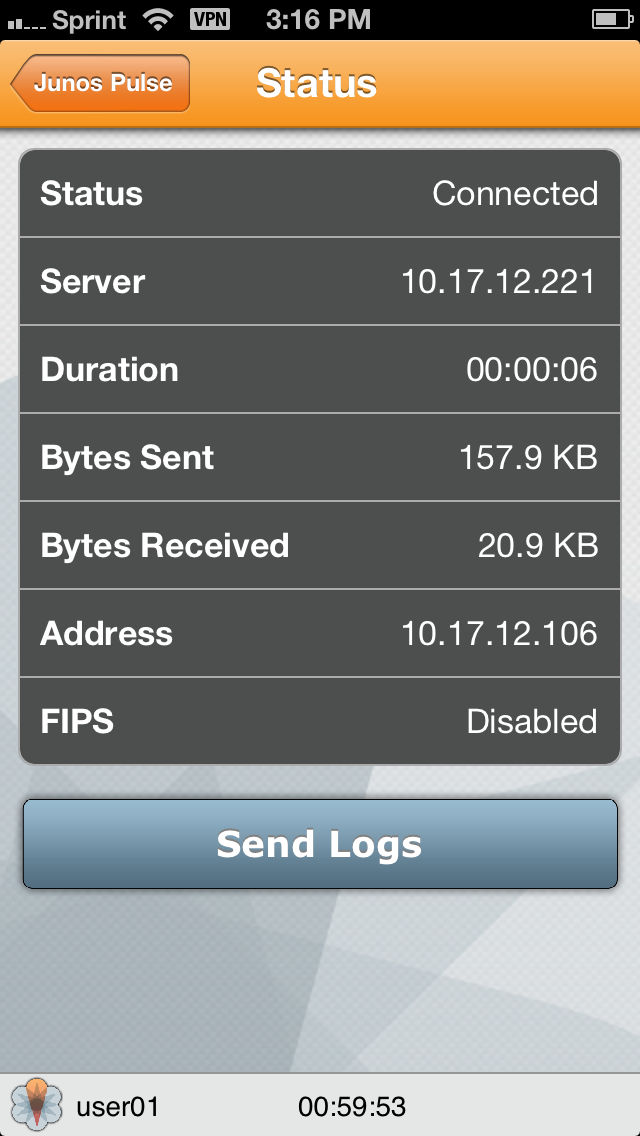 How to collect Junos Pulse logs from an iOS device (iPhone, iPad)-3
