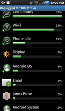 Junos Pulse Mobile Security application's impact on Android battery life-2