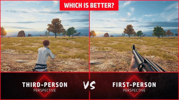 Comparison between TPP and FPP in PUBG