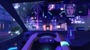 Neo Cab is the game that displays people's connection & the creeping advance of AI in a near-future city.