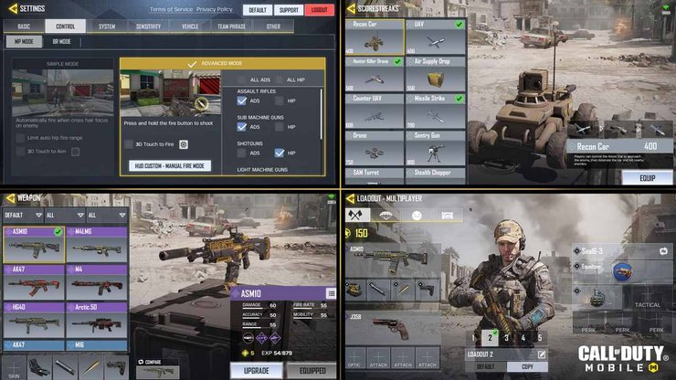 There are a lot of customizations to be done before a game of Call of Duty Mobile