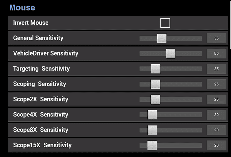 You can change sensitivity with specific scopes, too.