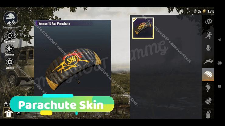 Season 10 will feature a new parachute skin called Ace Parachute
