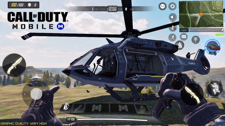 The Helicopter is the best vehicle in Call of Duty: Mobile