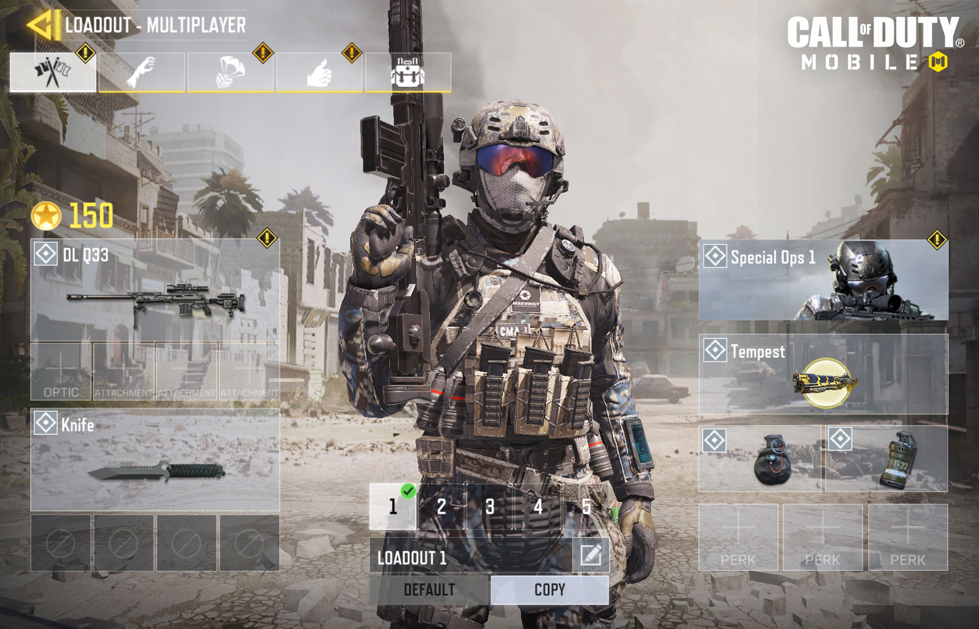 The Loadout is where you gear up for battle prior to a match