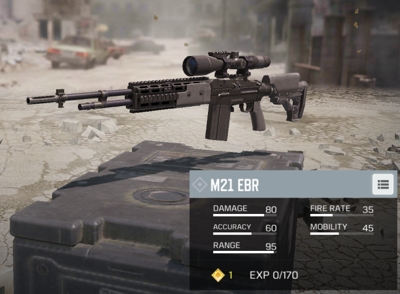 The M21 EBR's fire rate makes it a reliable sniper rifle in CoD Mobile.