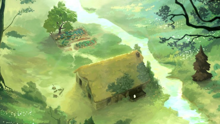 The graphics are reminiscent of a watercolor painting