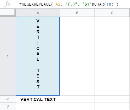 Formula 1: Text entered into cell