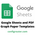 Google Sheets and PDF Graph Paper Templates