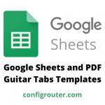 Google Sheets and PDF Guitar Tabs Templates