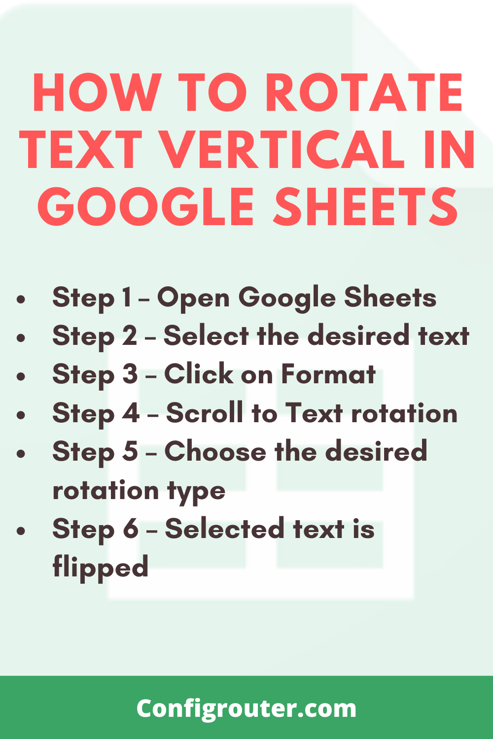 How to Rotate Text Vertical in Google Sheets doc