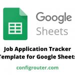 Job Application Tracker Template for Google Sheets