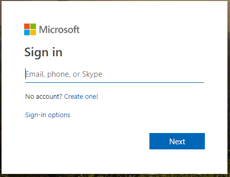Log into your outlook account