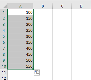 The difference between the 2 values in 50.