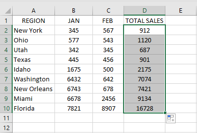 To avoid typing the same formula for all the cells in the column