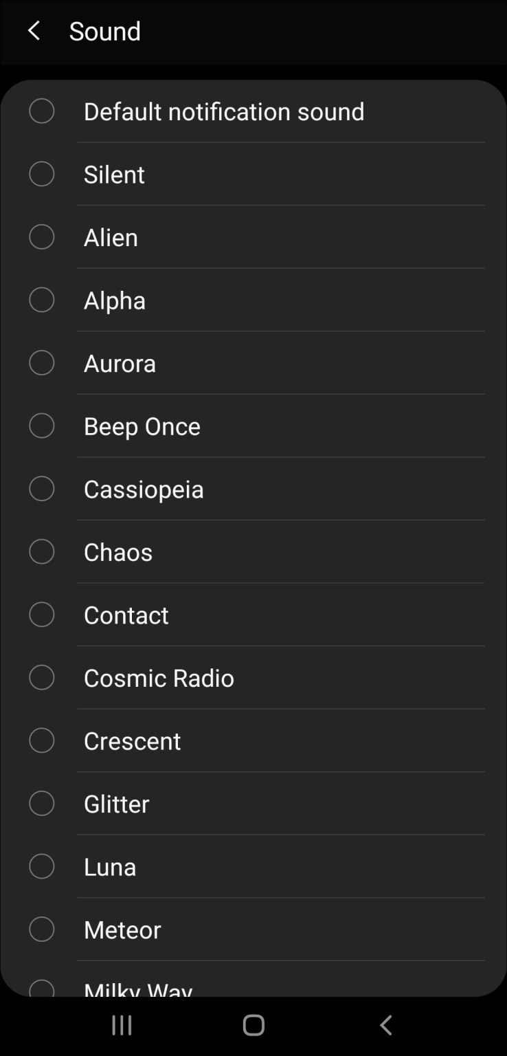choose your fav sound or ringtone from list