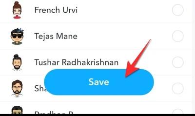 click save option