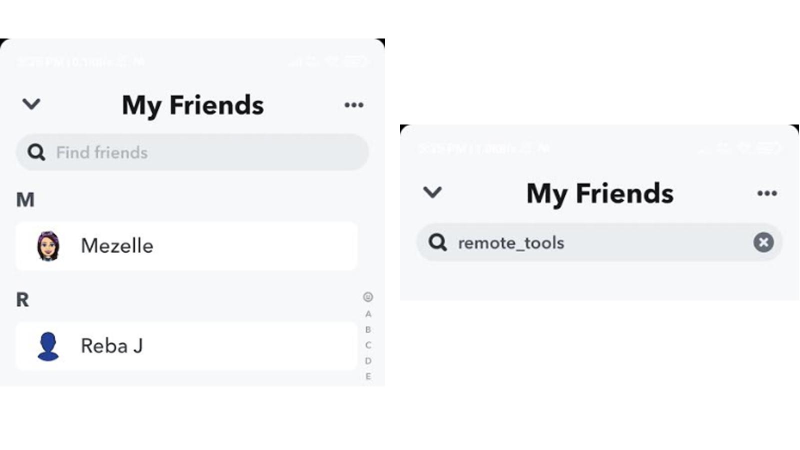using friend list